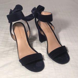 Who What Wear Velvet Sandals